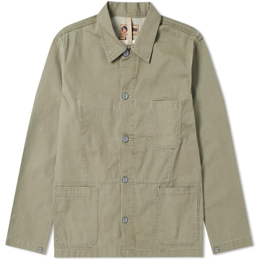 NIGEL CABOURN Nigel Cabourn Lybro Mixed Field Jacket in Green