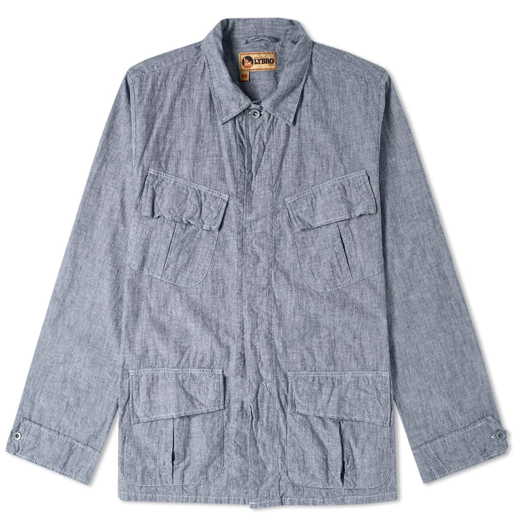 NIGEL CABOURN Nigel Cabourn X Lybro Nam Shirt in Blue