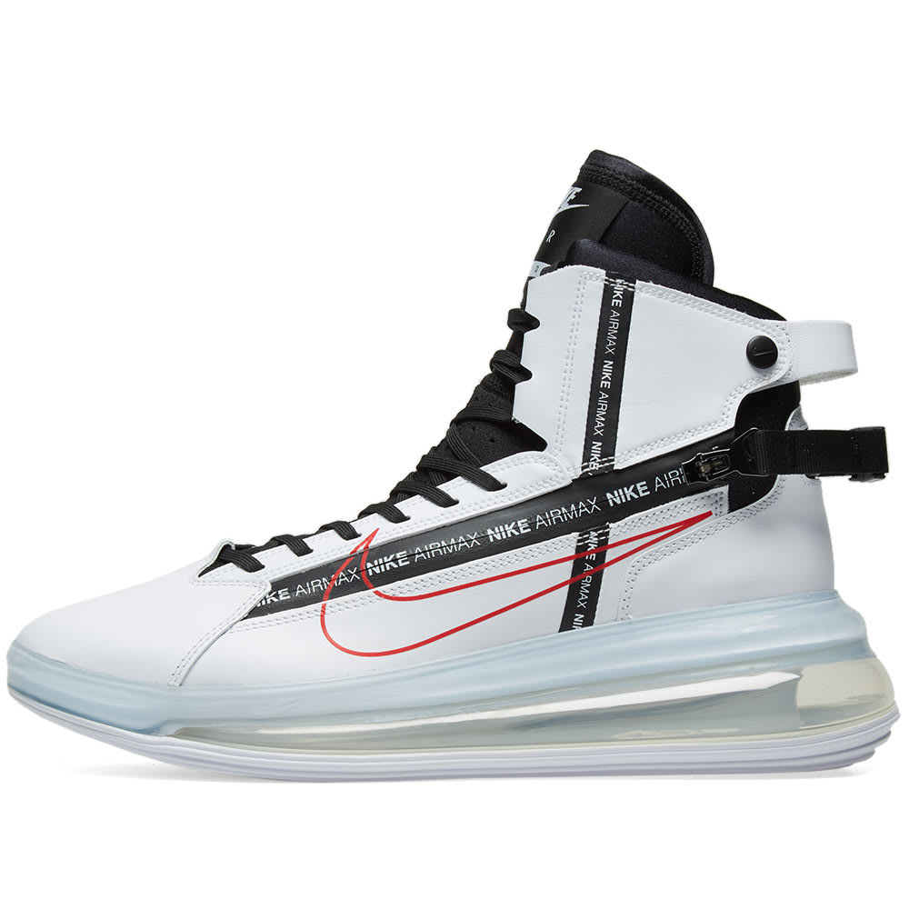 Nike Air Max 720 Saturn White Black Red End