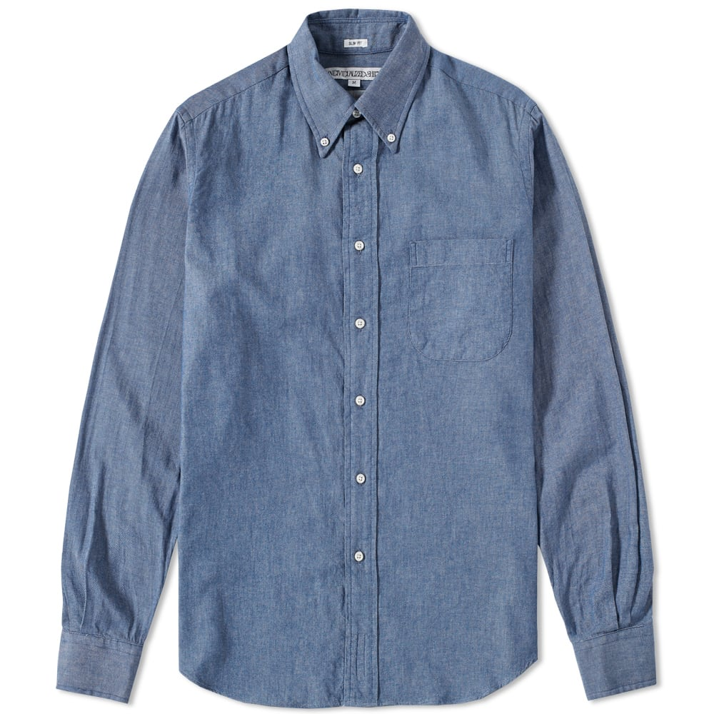 Individualized shirts button down denim shirt blue for Denim button down shirts