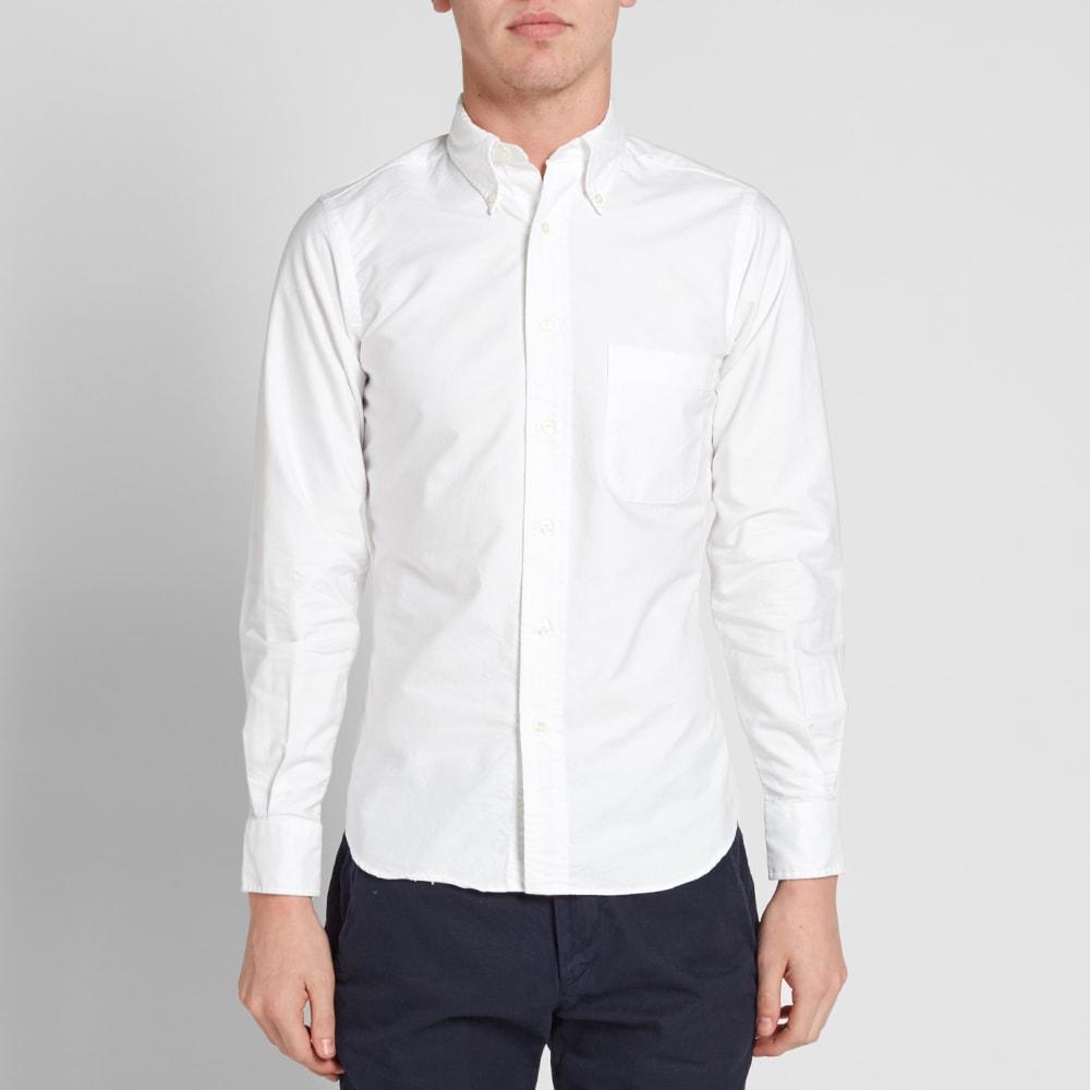 Individualized shirts button down oxford shirt white for White button down oxford shirt