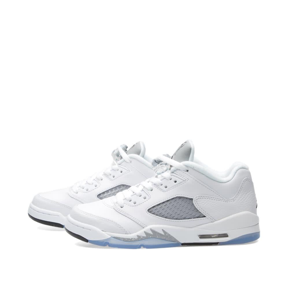 6a4f1e245b5142 Nike Air Jordan 5 Retro Low GS White