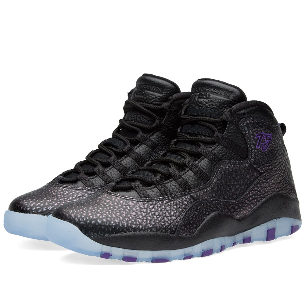 buy popular 457a2 ee341 Nike Air Jordan 10 Retro Black   Fierce Purple   END.