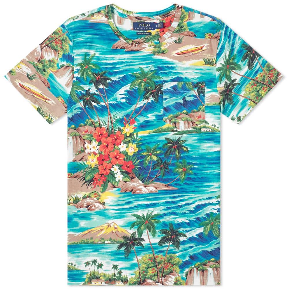 Beach Pocket Ralph Lauren Hawaiian Polo Tee b7g6yYf