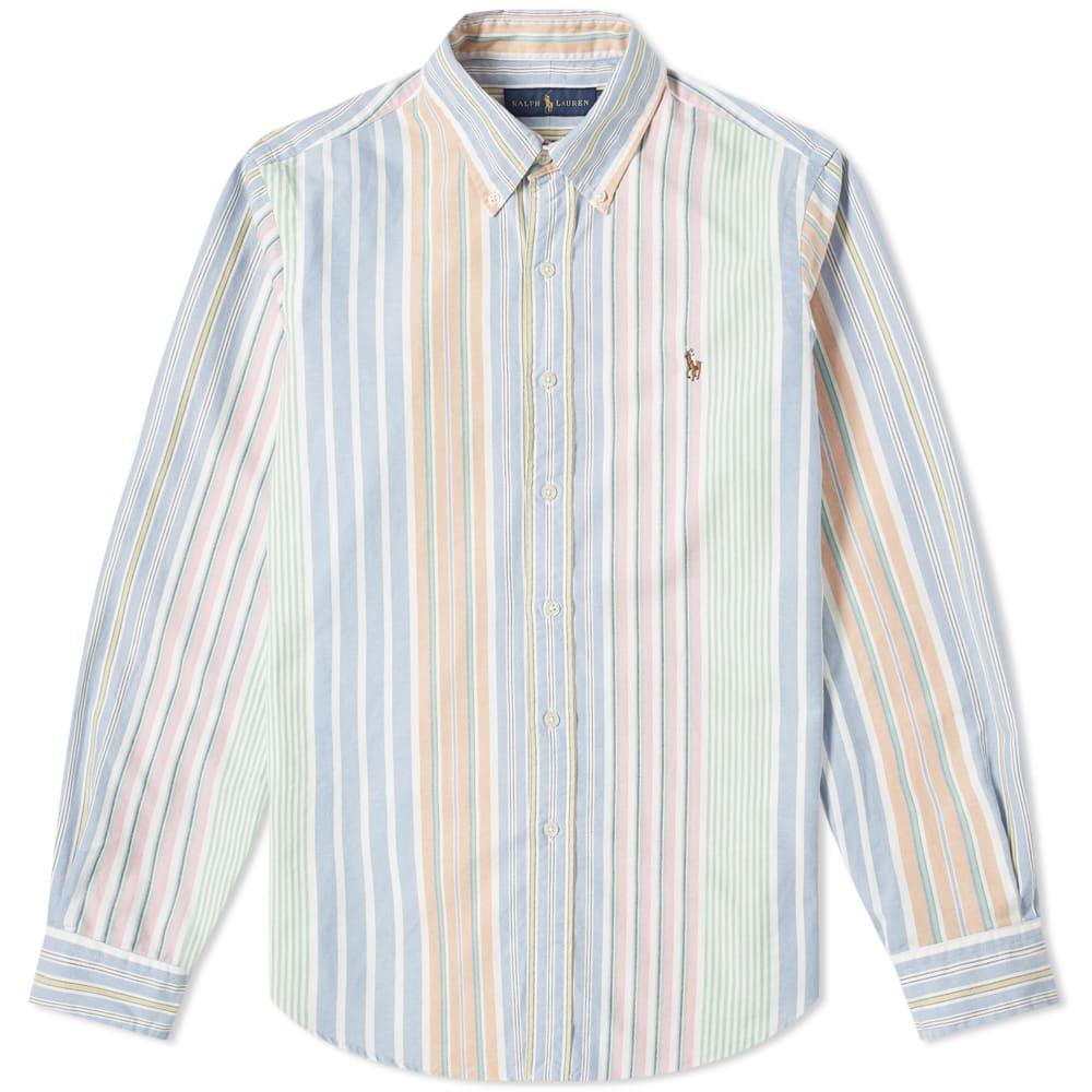 half off premium selection discount Polo Ralph Lauren Multi Stripe Custom Fit Button Down Oxford Shirt