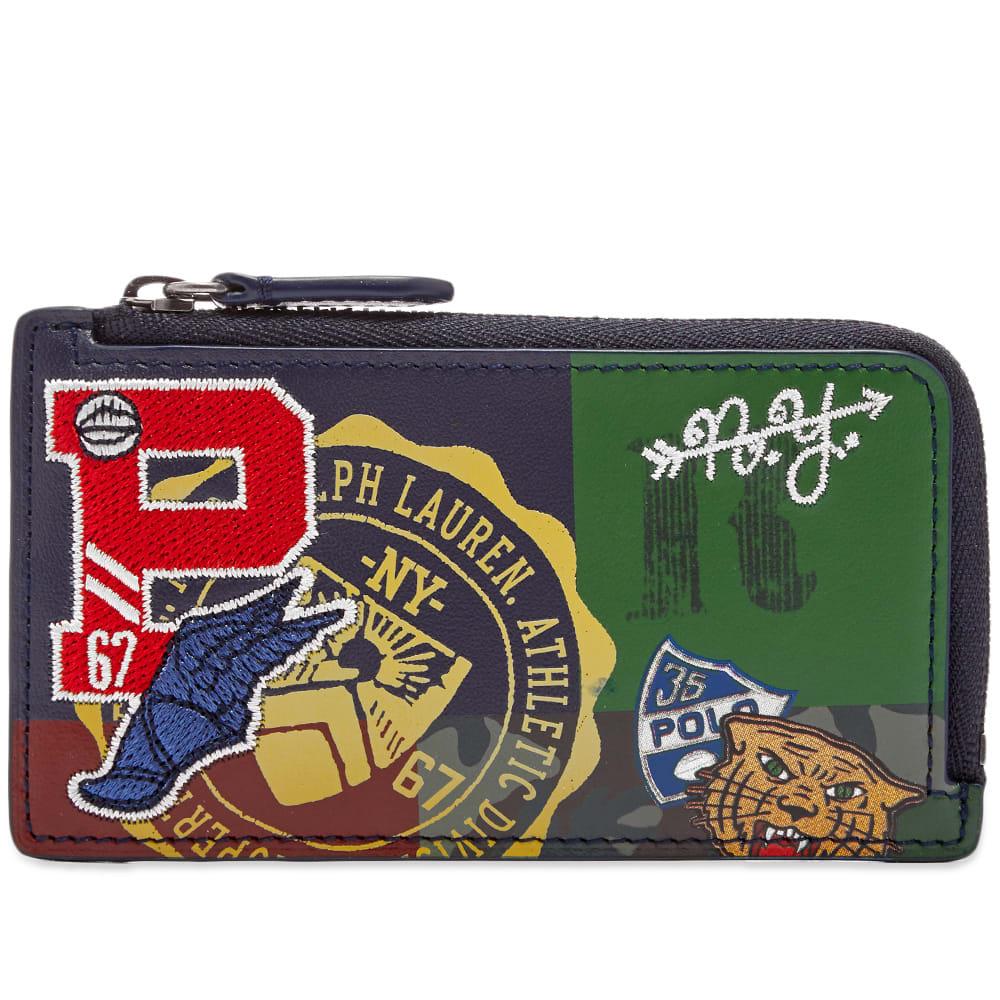 timeless design bfb36 90812 Polo Ralph Lauren Patchwork Zip Around Card Case