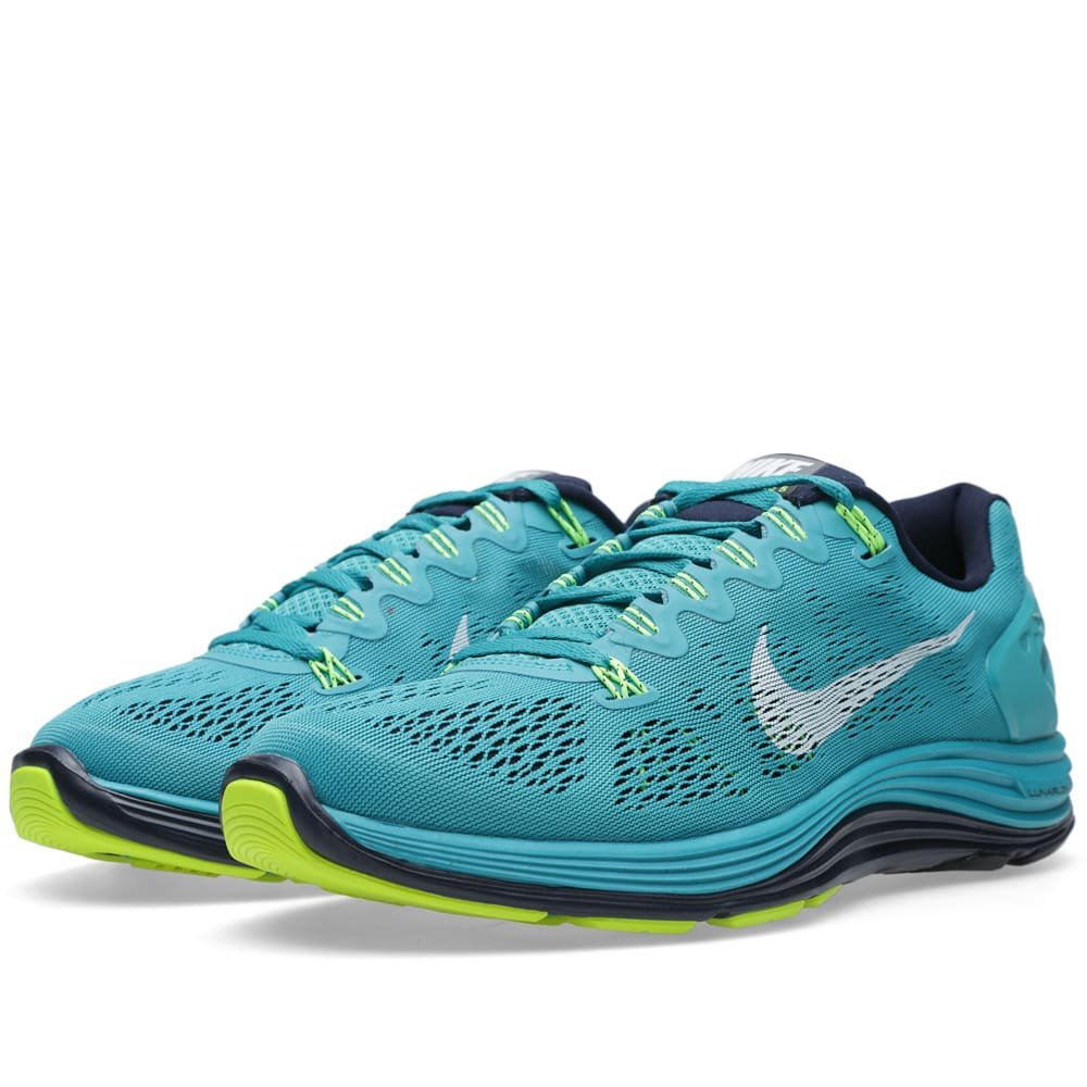 eb552c33f5cf Nike Lunarglide+ 5 Tribe Green   White