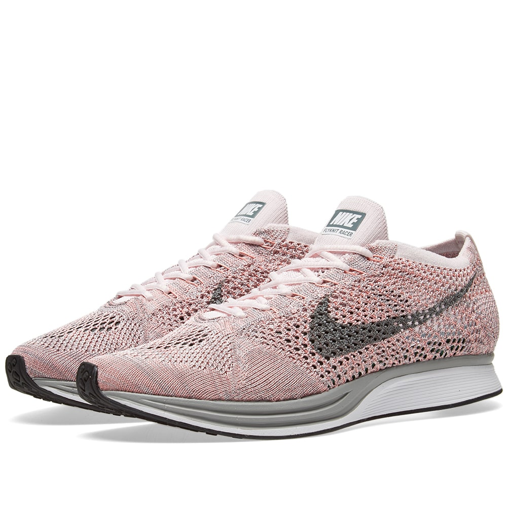 meet 05d40 6ac4a Nike Flyknit Racer. Pearl Pink   Cool Grey