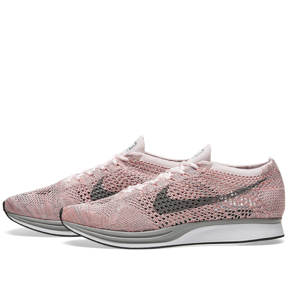 9f61a84527af9 Nike Flyknit Racer Pearl Pink   Cool Grey