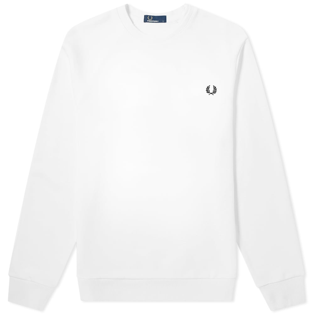 FRED PERRY | Fred Perry Authentic Reverse Wreath Applique Sweat White | Goxip