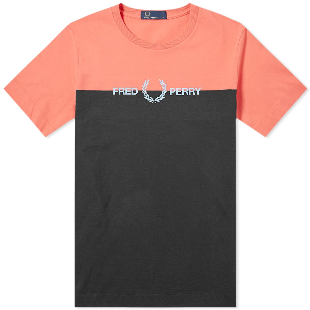 FRED PERRY | Fred Perry Authentic Split Logo Tee Tropical Red | Goxip