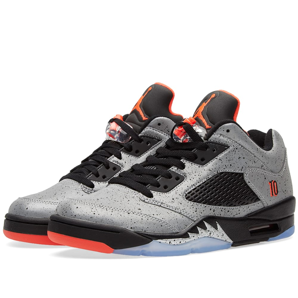 4709490558e291 Nike Air Jordan 5 Retro Low  Neymar  Reflect Silver   Black