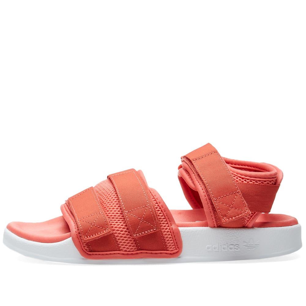 516647487a21 Adidas Adilette Sandal 2.0 W Trace Scarlet   White