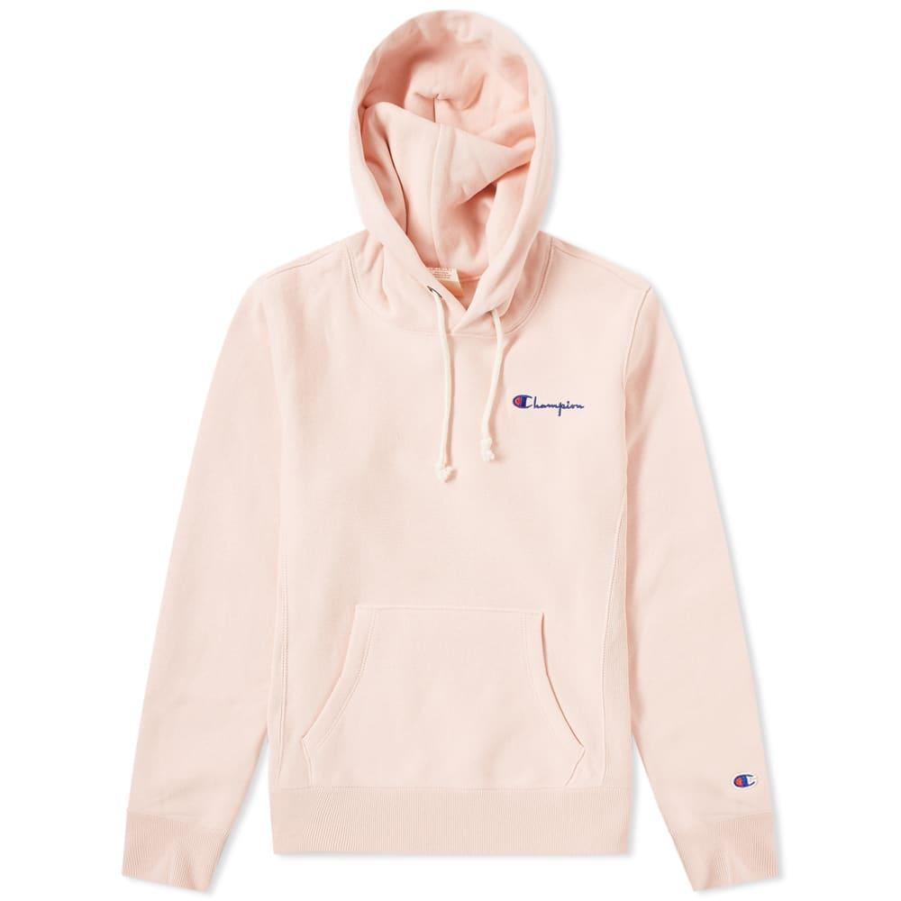 2066e760792b Champion Reverse Weave Women s Small Script Logo Hoody Pink