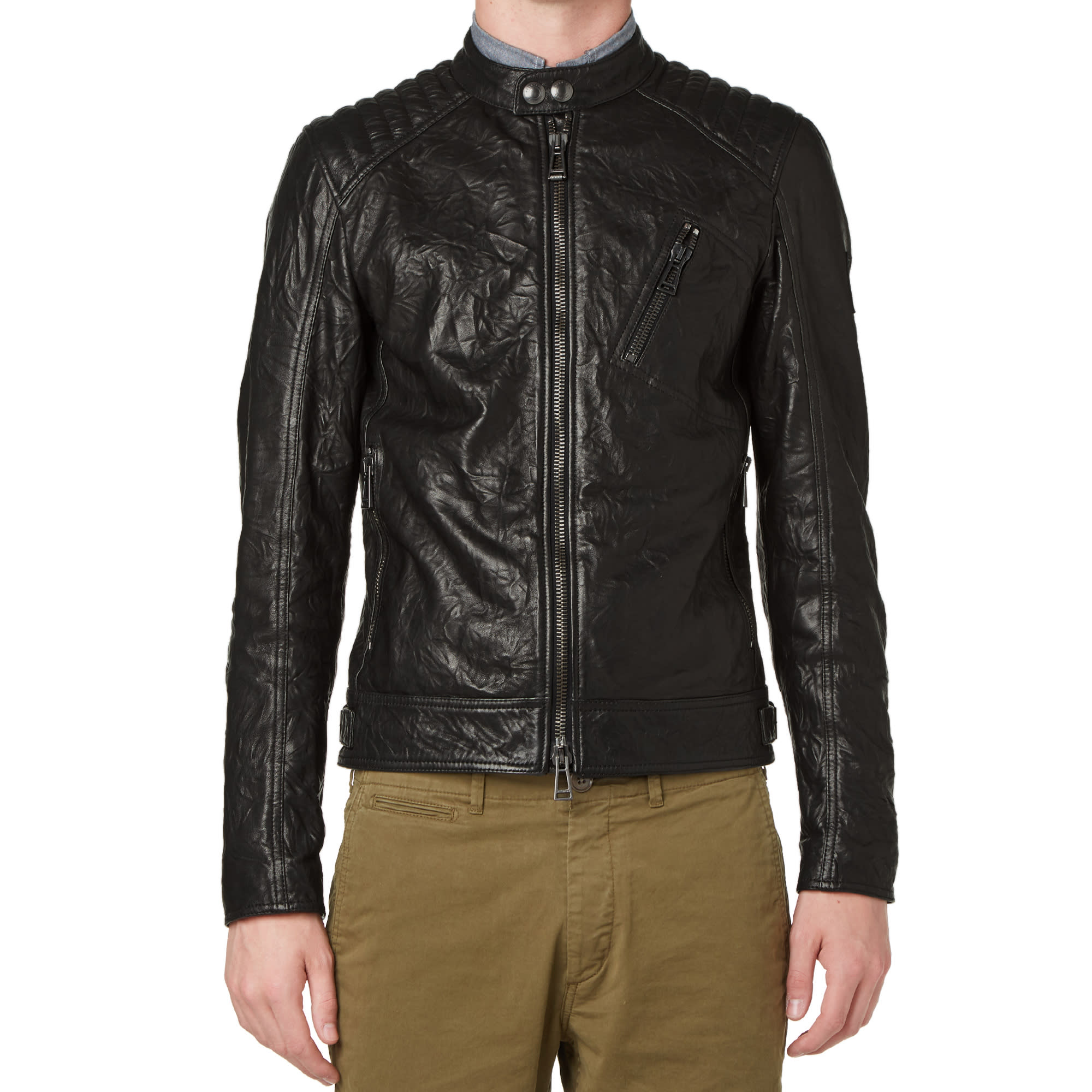 135b144331 Belstaff K Racer Tumbled Leather Jacket Black | END.