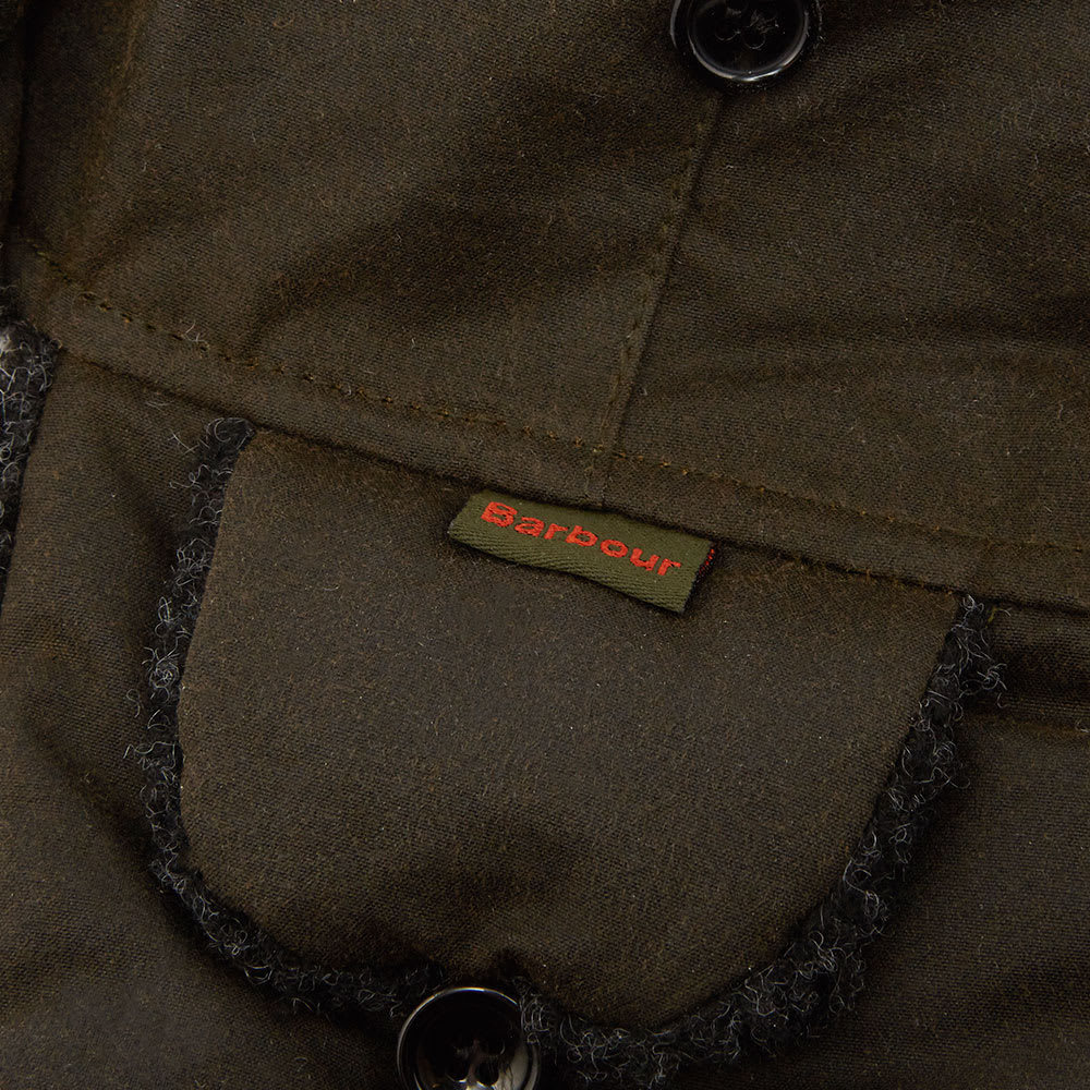 8cb97ee5a54cf Barbour Fleece Lined Trapper Olive | END.