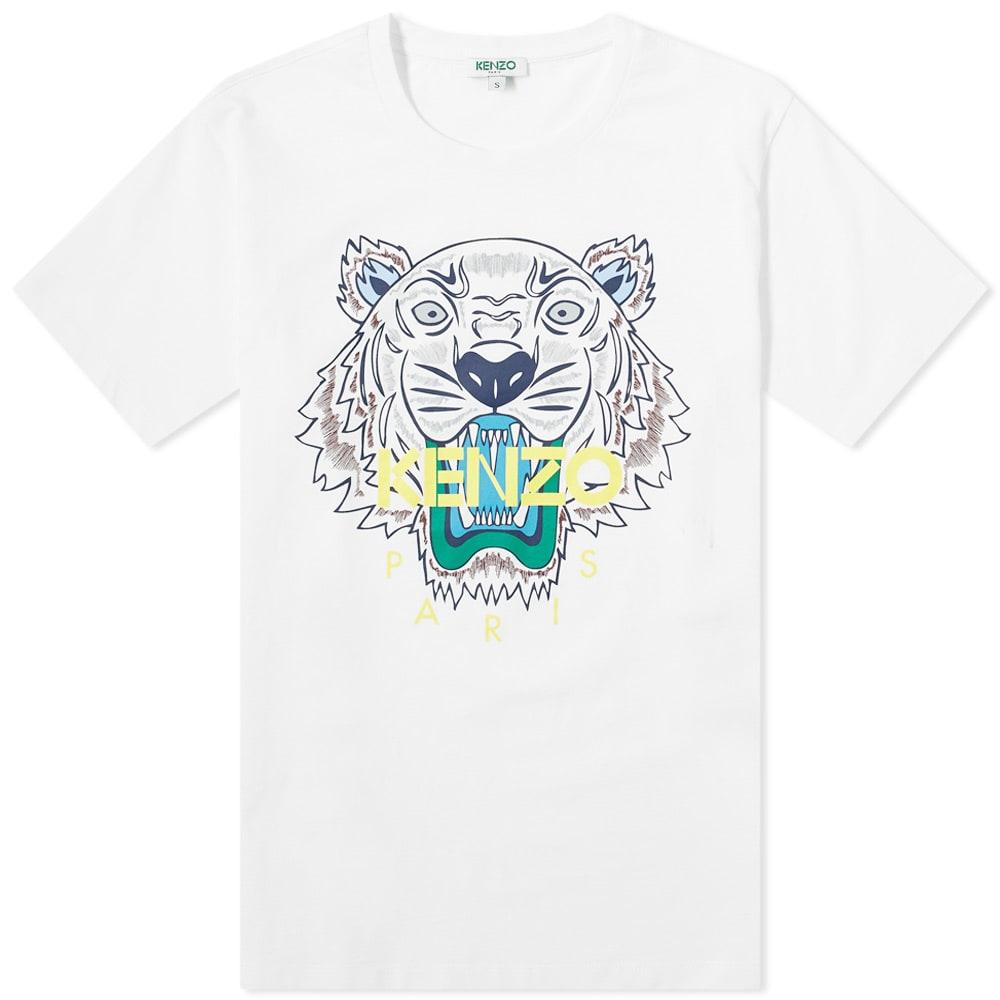 Kenzo Kids Tiger Khaki Short Sleeve T-Shirt