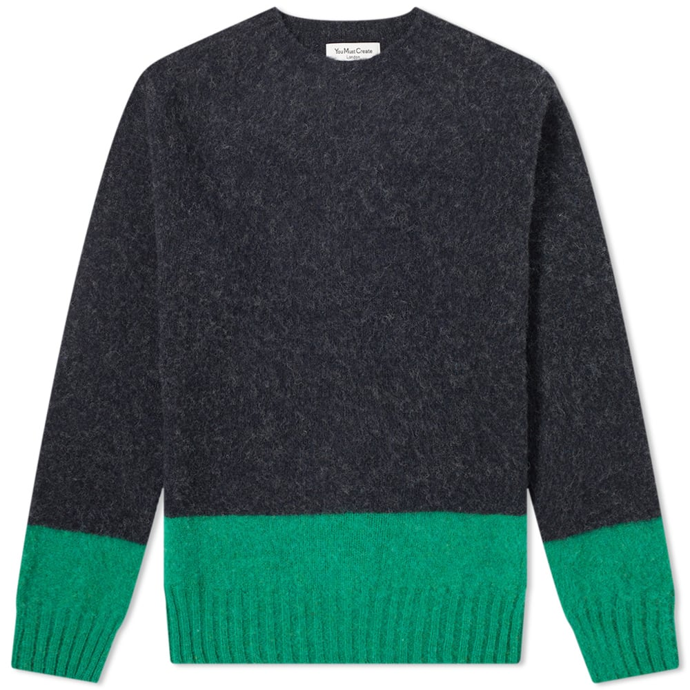 Ymc Block Stripe Lambswool Crew Knit by Ymc