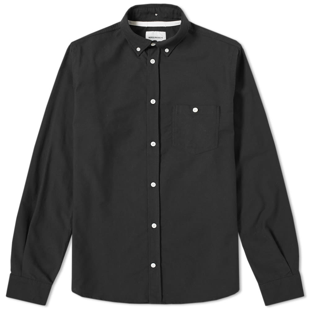NORSE PROJECTS Anton Button-Down Collar Denim Shirt in Black