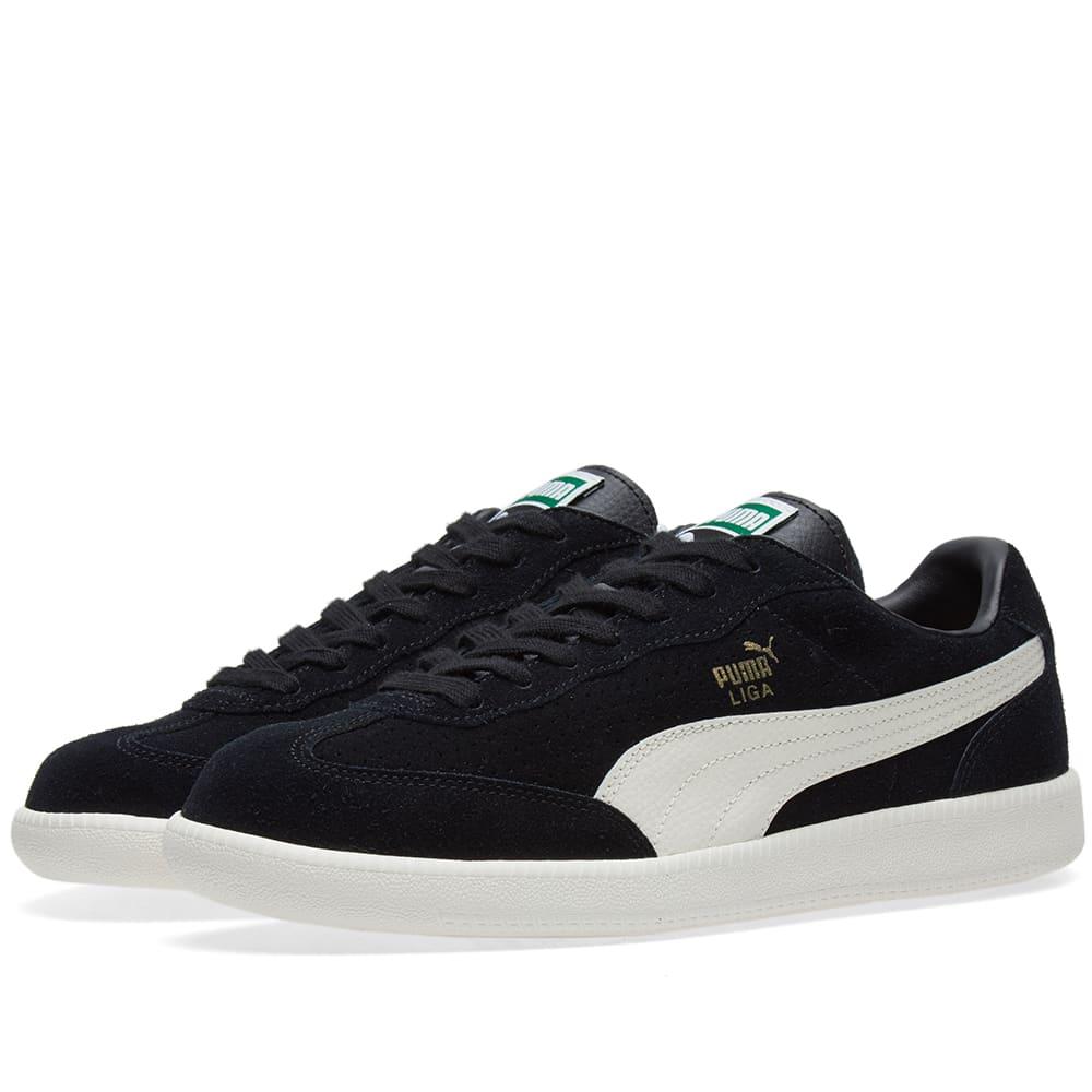 Puma Liga Suede Perf Black, White