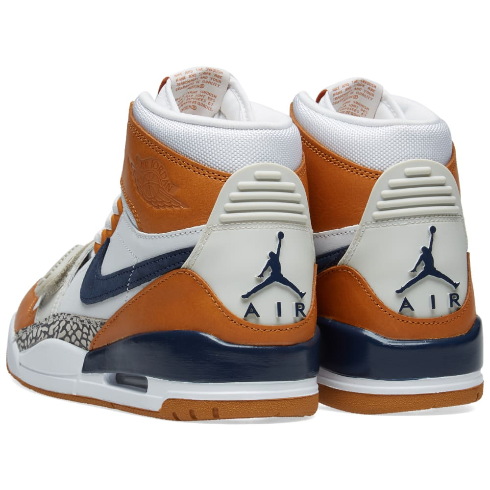 factory authentic 6c233 0a8d5 Air Jordan x Don C Legacy 312 White, Midnight Navy   Ginger   END.