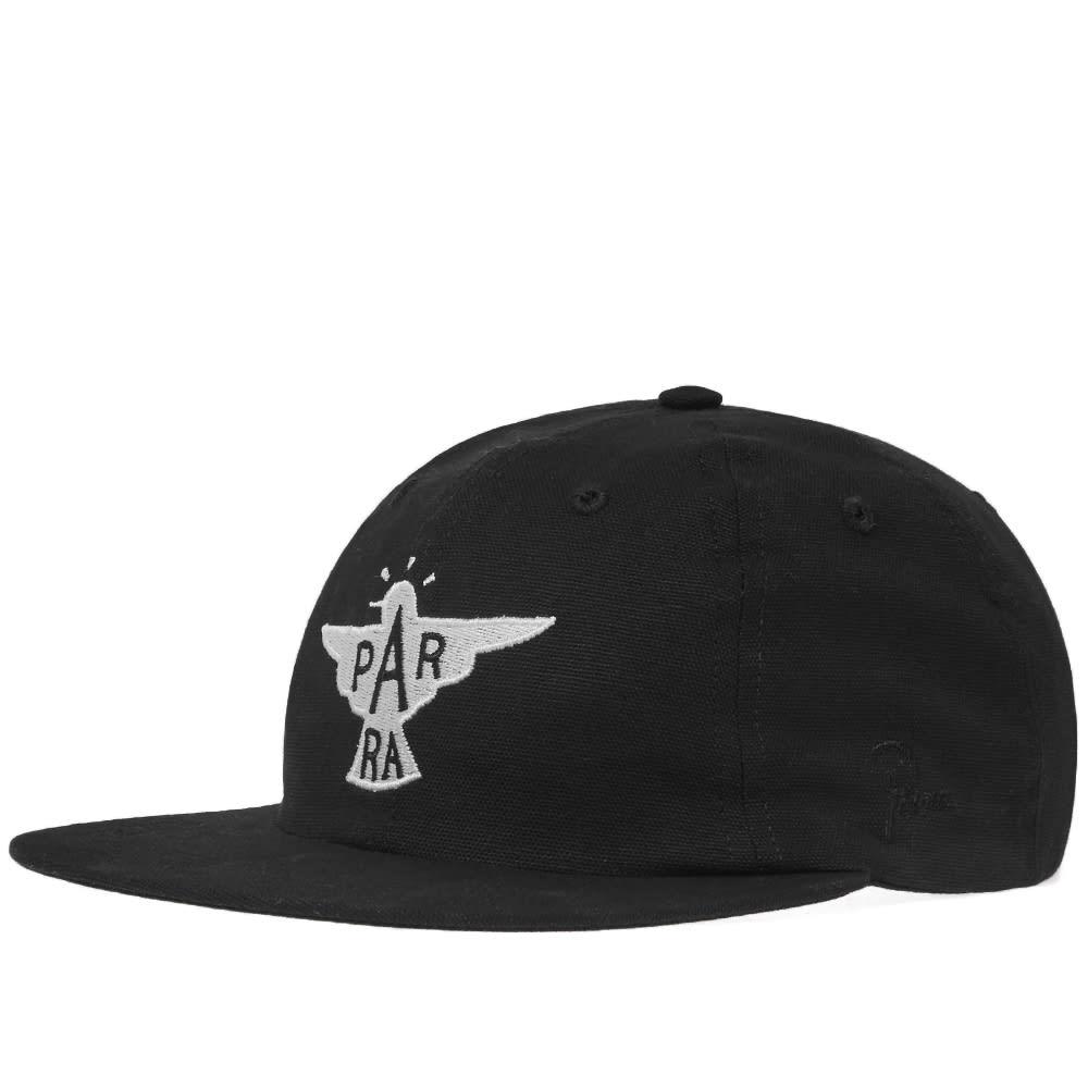 BY PARRA By Parra Jackdaw Logo Cap in Black