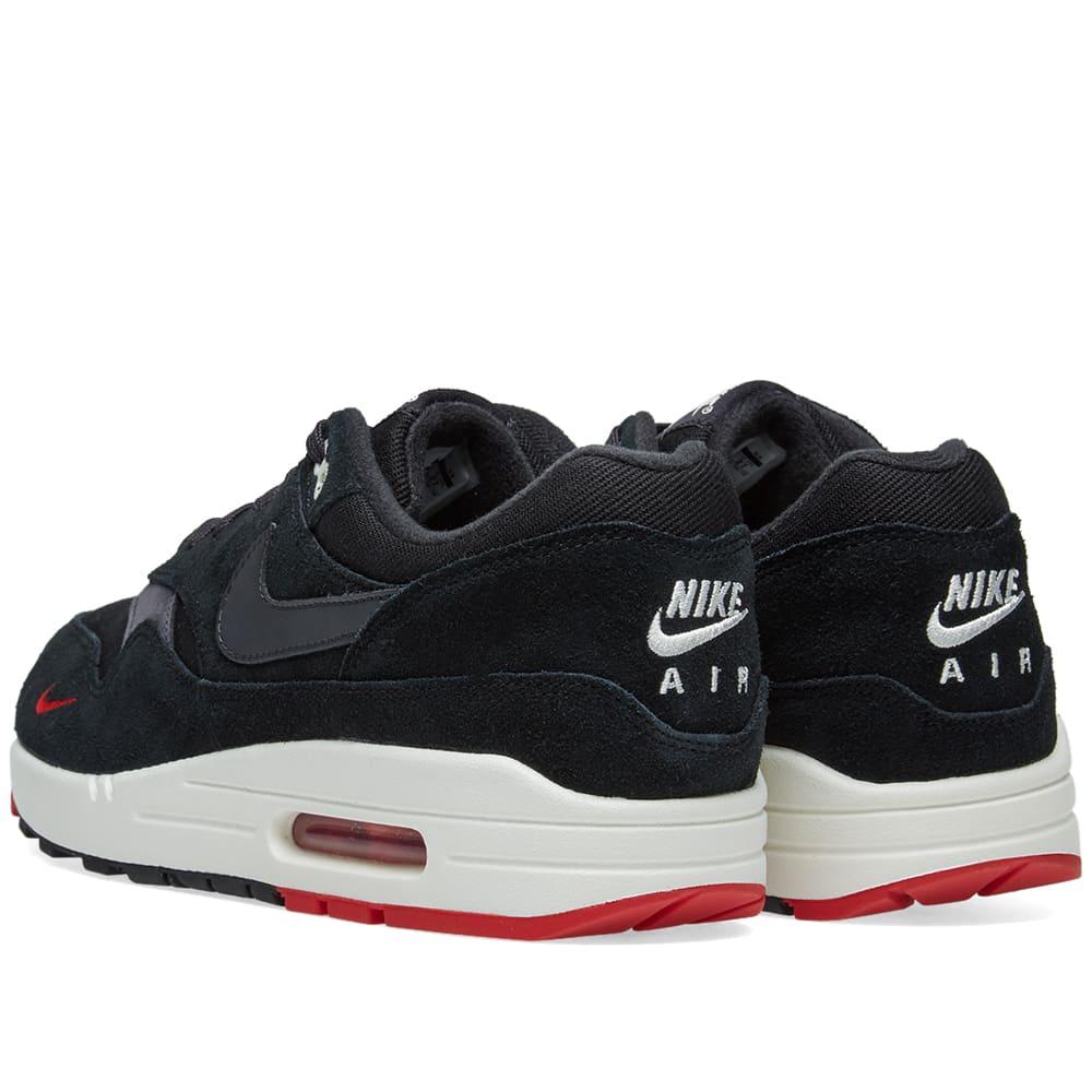 huge selection of 6bd39 ca993 Nike Air Max 1 Premium Black, Oil Grey   Red   END.