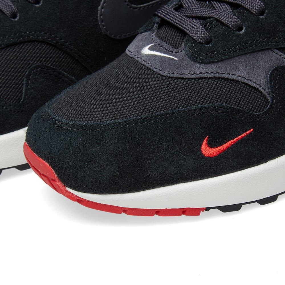Nike Air Max 1 Premium Black Grey Red 875844 007