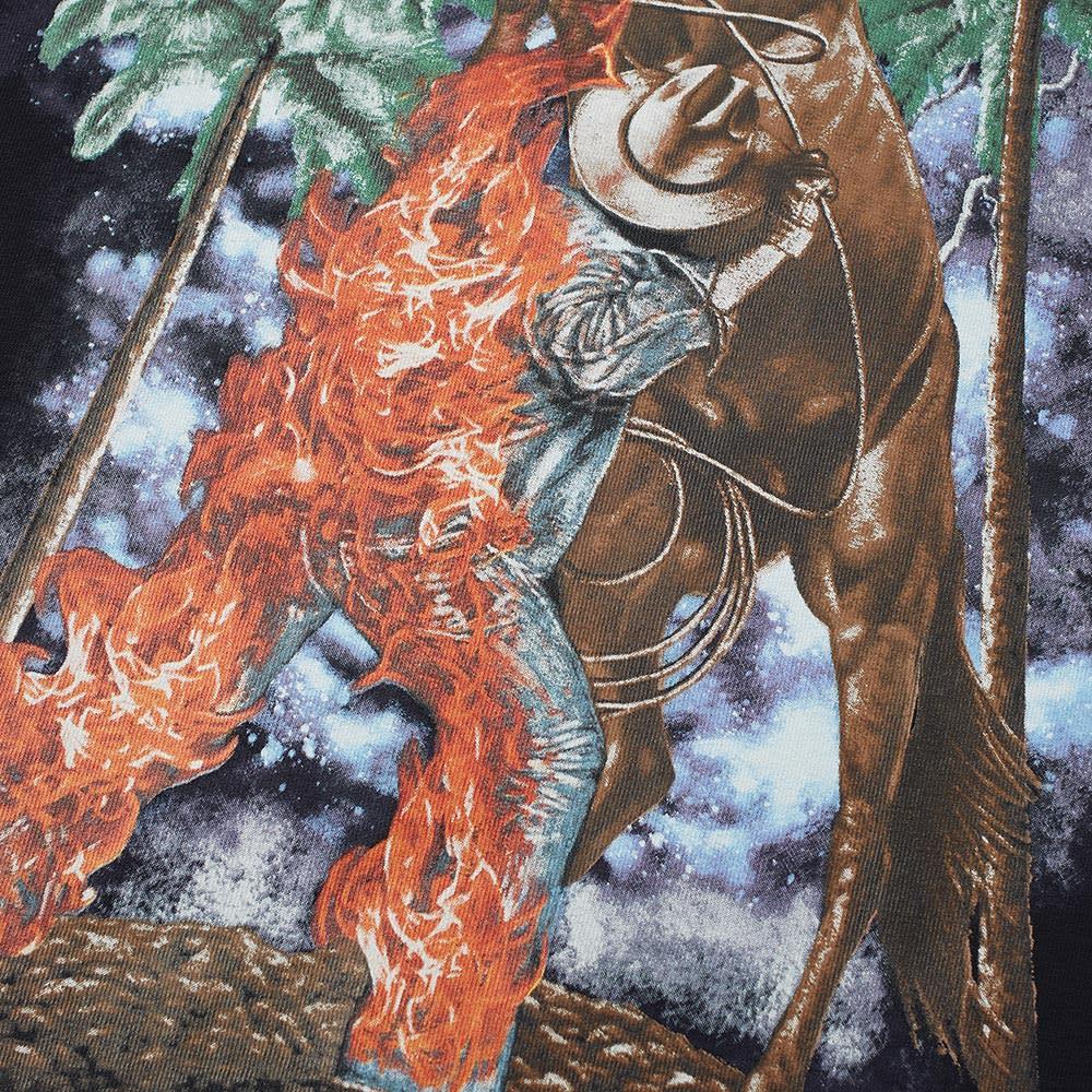 df151a40 Palm Angels Burning Cowboy Tee Black | END.