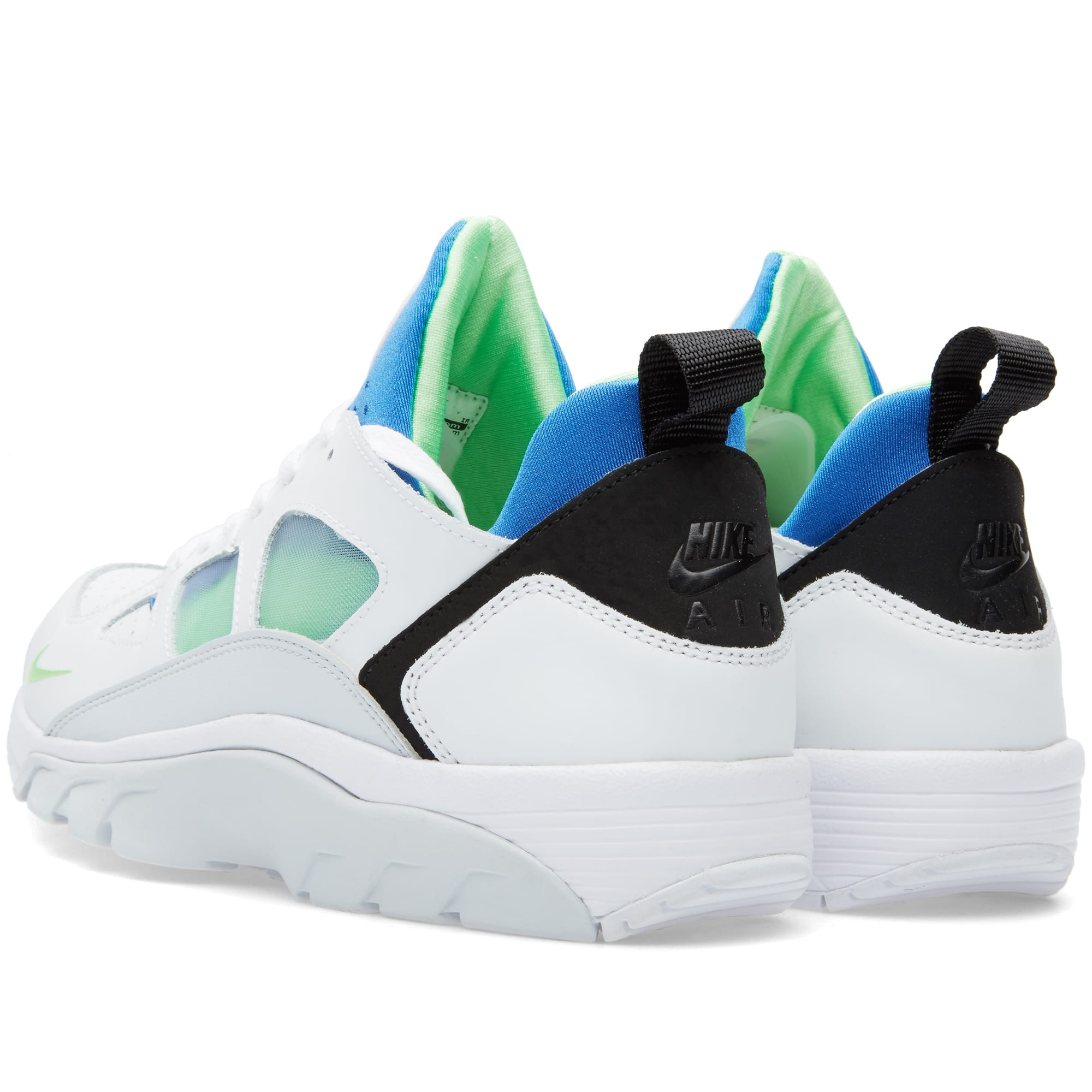 online store 026ee a6375 Nike Air Trainer Huarache Low White   Scream Green   END.