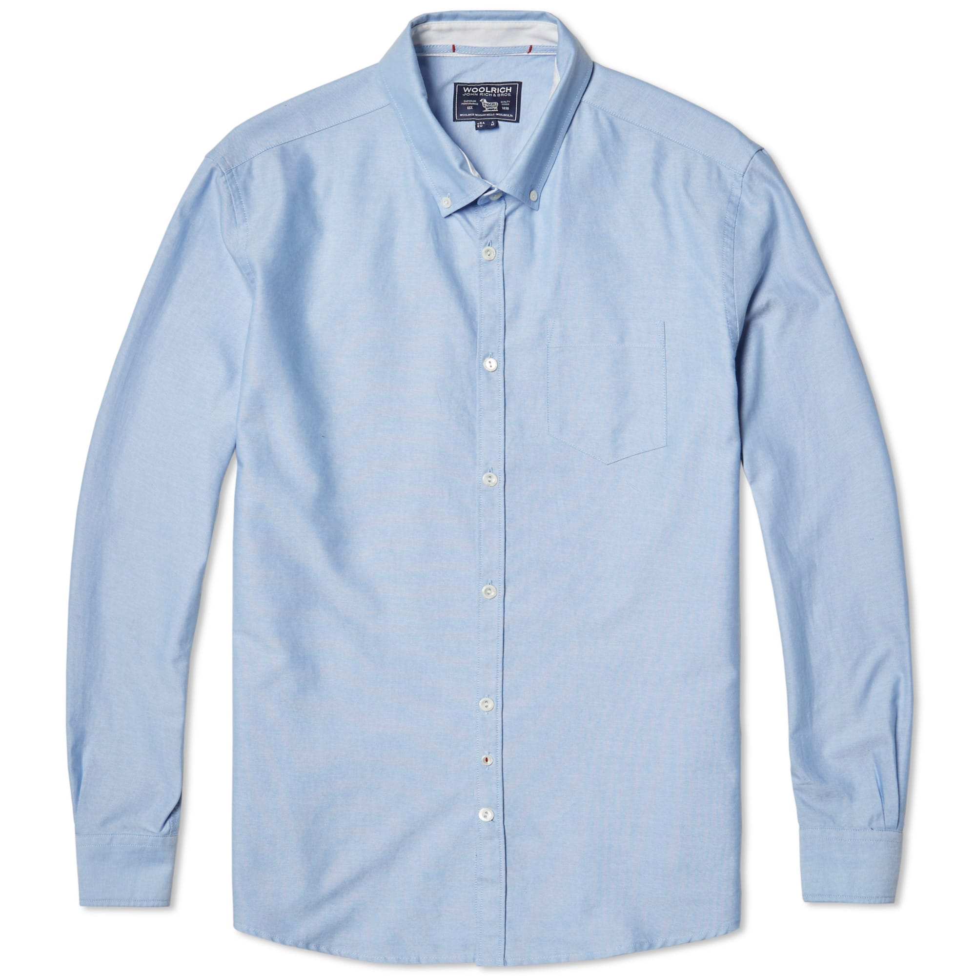woolrich oxford shirt light blue