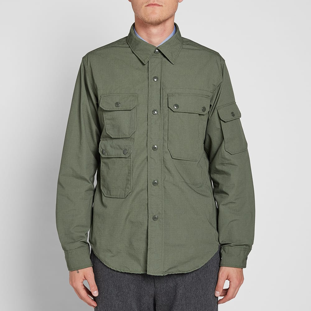 Engineered Garments CPO Shirt Olive Nyco Ripstop | END.