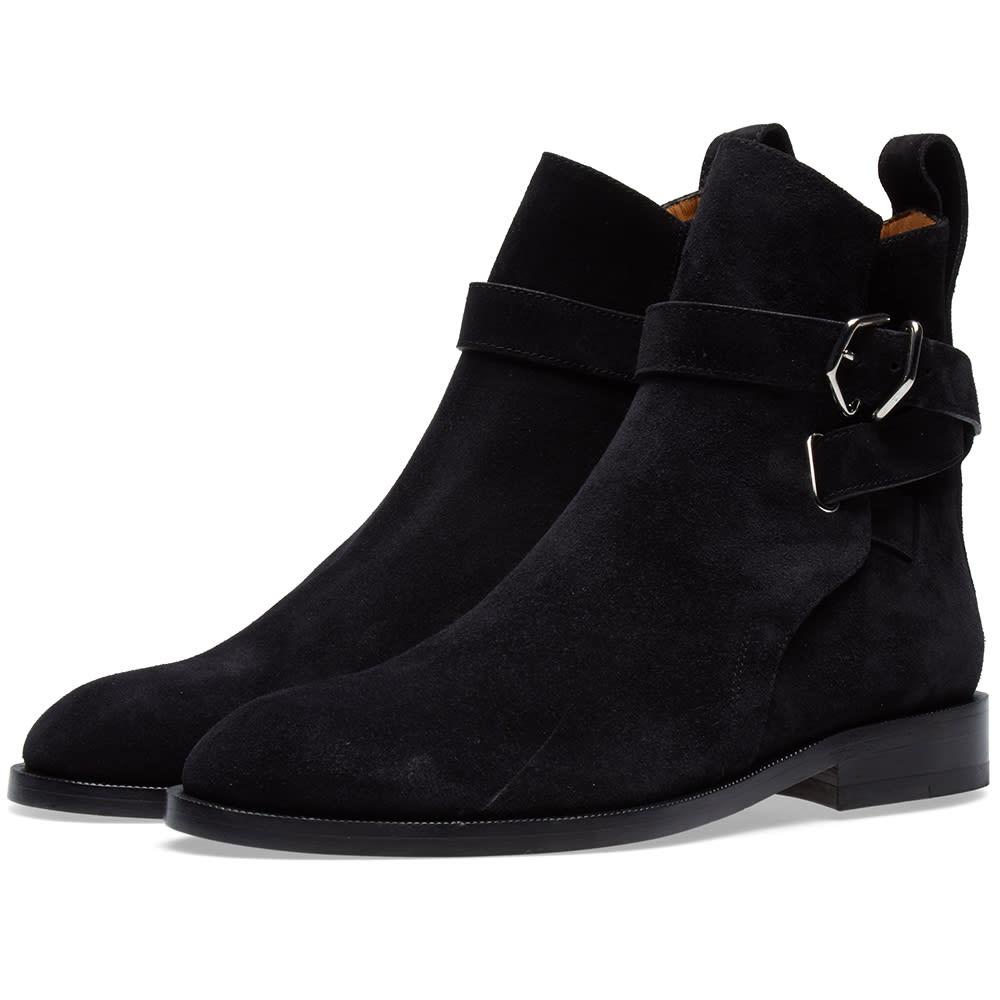 cdf152f0592 Acne Studios Julian Suede Buckle Ankle Boot Black | END.