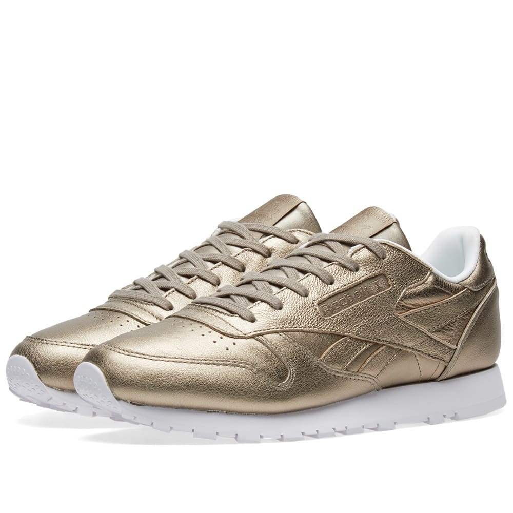 new product c572f 46dfc Reebok Classic Leather W Pearl Grey Gold   Ice   END.