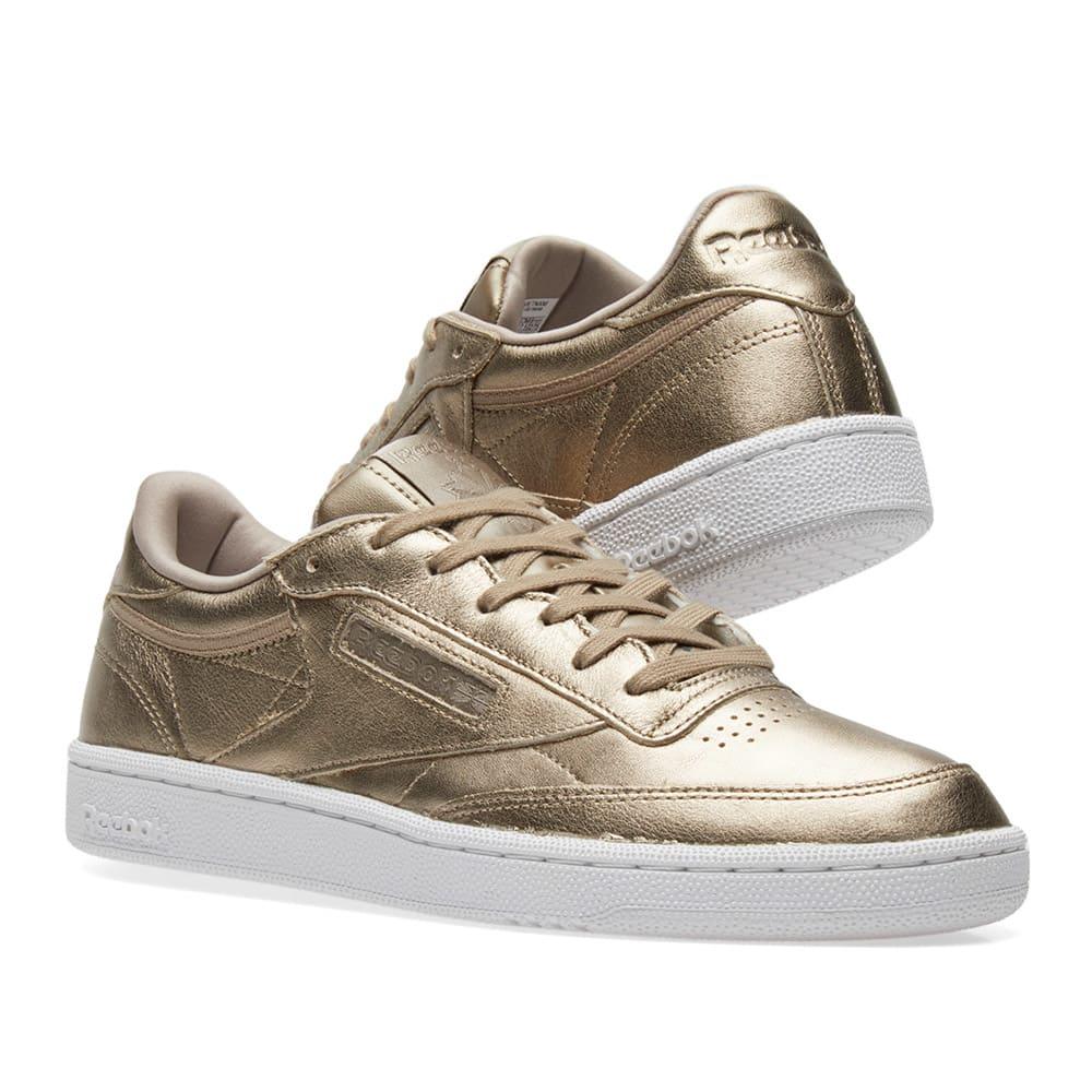 9e75363ad74a1 Reebok Club C 85 Leather W Pearl Grey Gold   Ice