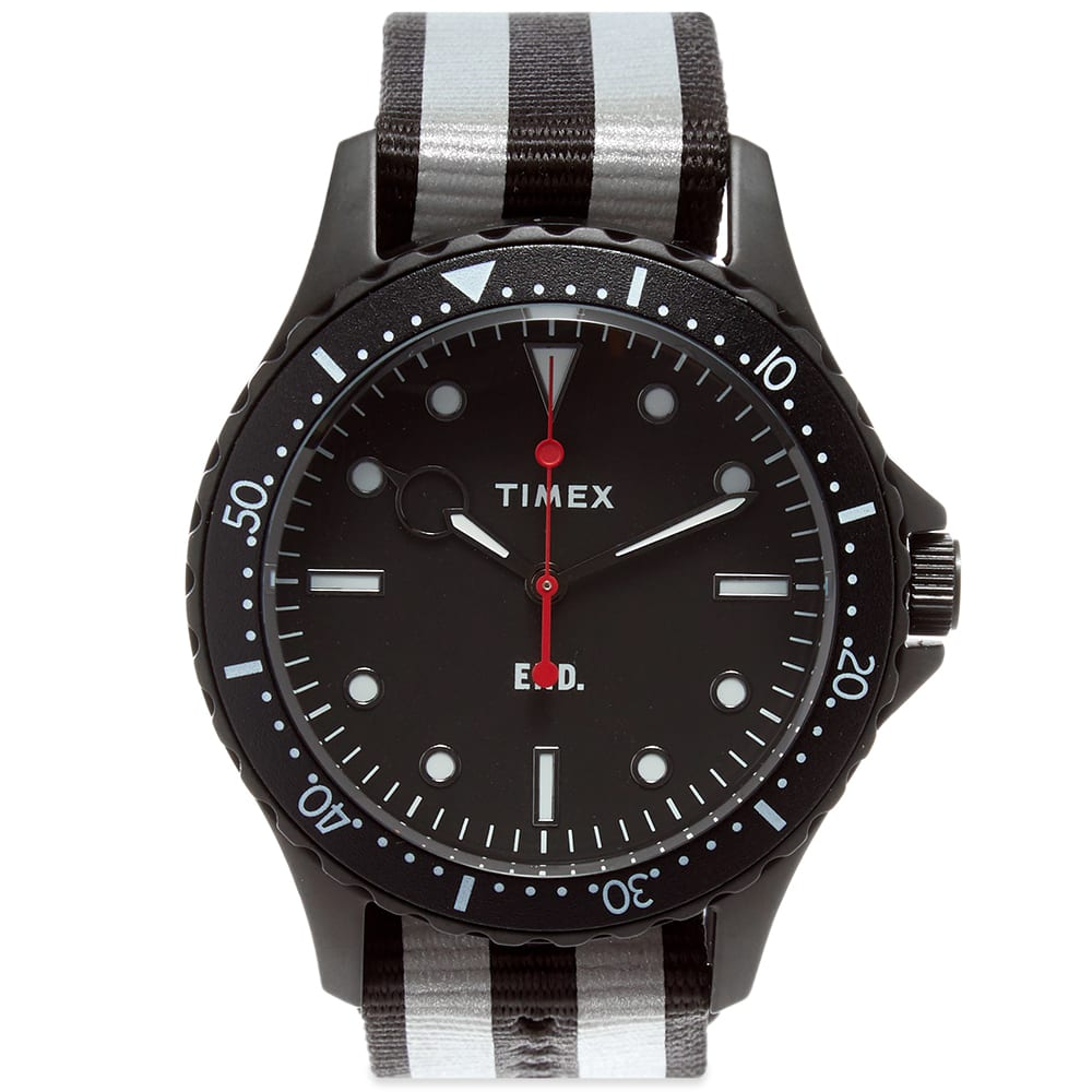 End. X Timex Navi Xl Watch In Black