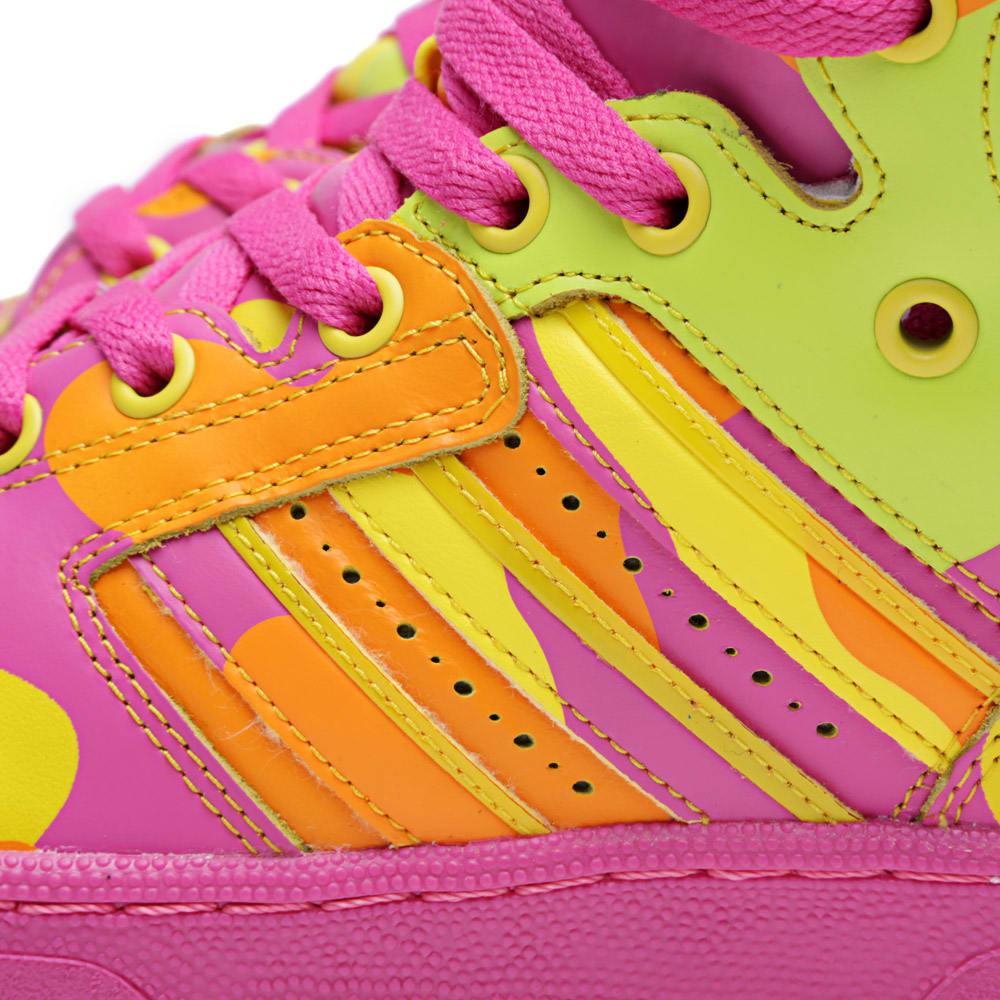 online store 4dff9 94ff5 Adidas ObyO x Jeremy Scott Instinct Hi Neon Camo