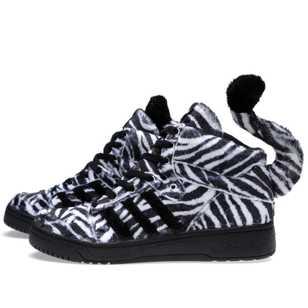 5754e5fd1 Adidas ObyO x Jeremy Scott Zebra Black   Running White