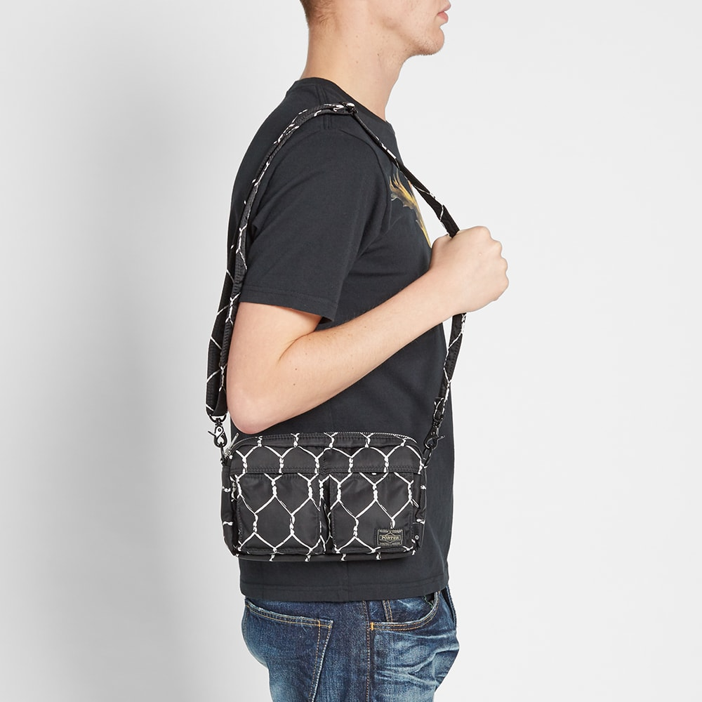 Undercover x porter fence print messenger bag black for Undercover x porter