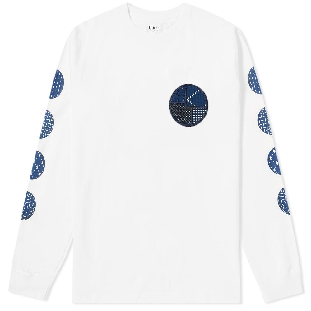 FDMTL Fdmtl Long Sleeve Circle Sashikotee in White