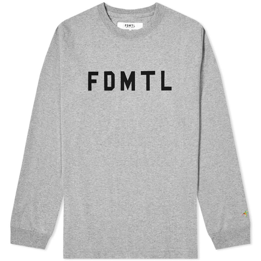 FDMTL Fdmtl Long Sleeve Logo Tee in Grey