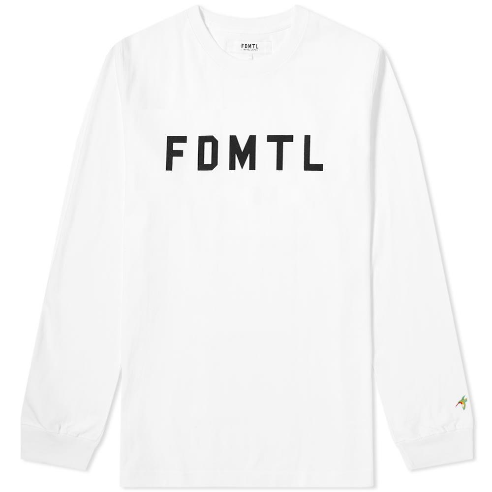 FDMTL Fdmtl Long Sleeve Logo Tee in White