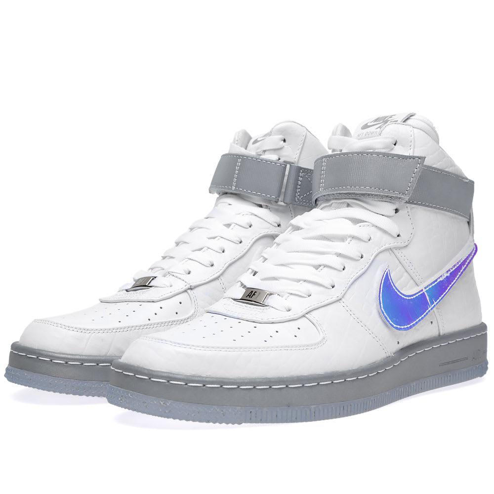 san francisco b1432 c73b4 Nike Air Force 1 Downtown Hi LW QS  Hologram  White   END.
