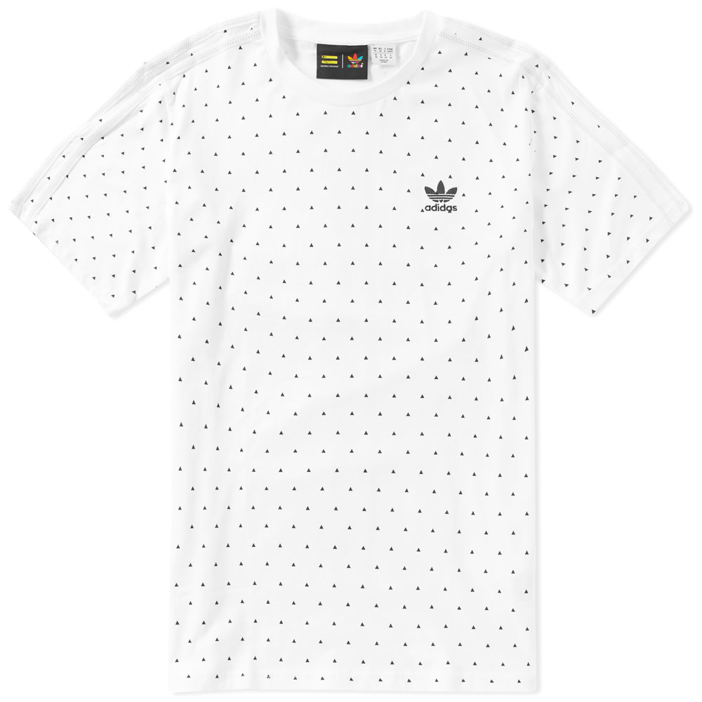 Accidentalmente Hecho de Humo  Adidas x Pharrell Williams Polka Tee White & Black | END.