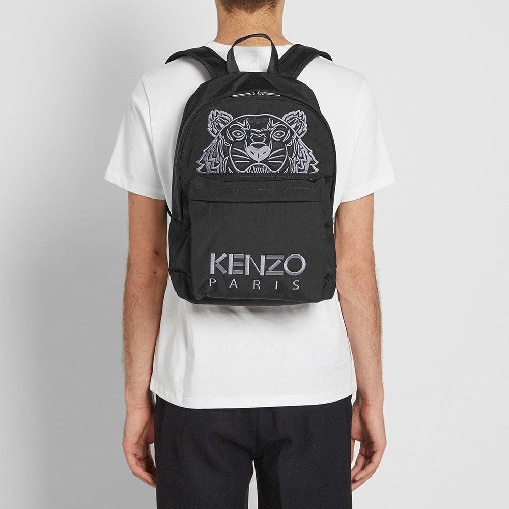 df76dc13 Kenzo Tiger Backpack Black & Grey | END.