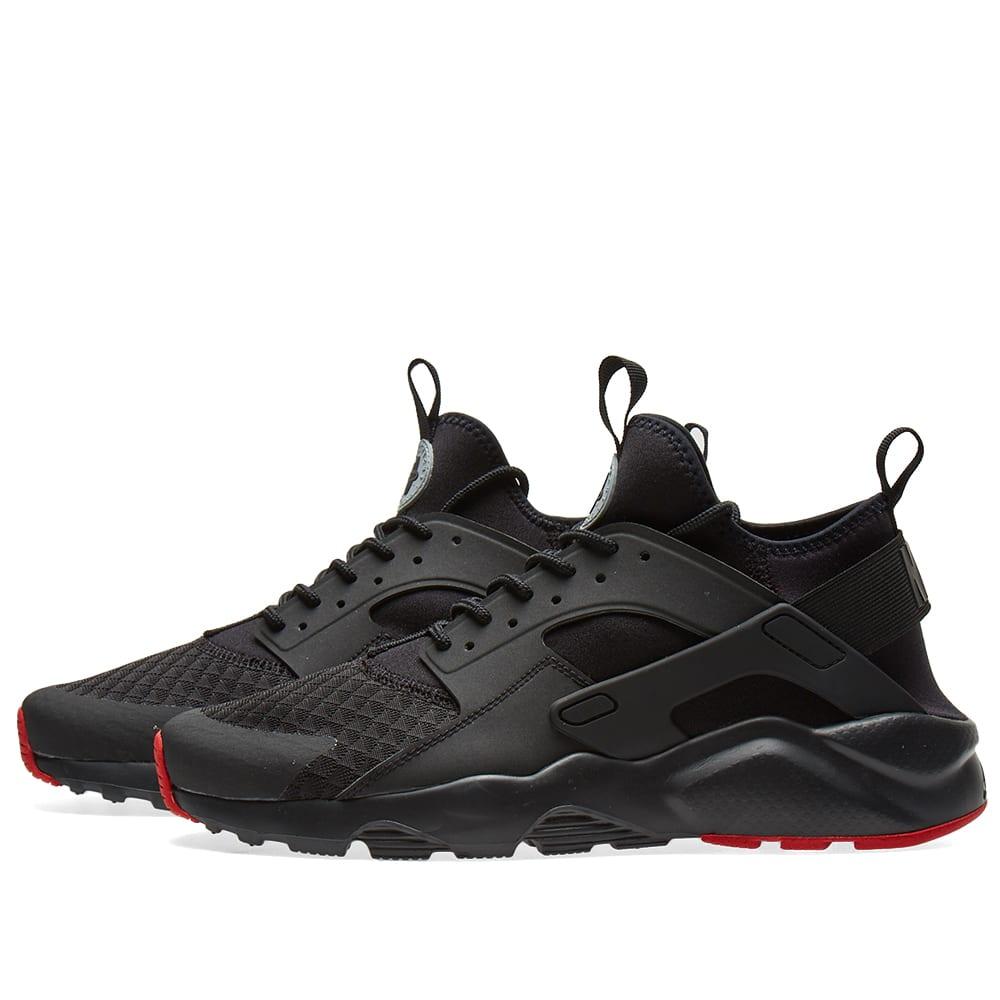best service 216e7 6a99a Nike Air Huarache Run Ultra Black, Metallic Silver   Red   END.