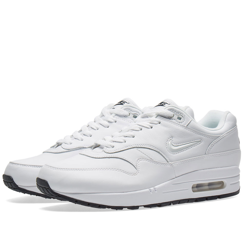 first rate 8a947 a3a93 Nike Air Max 1 Premium SC White   Dark Obsidian   END.