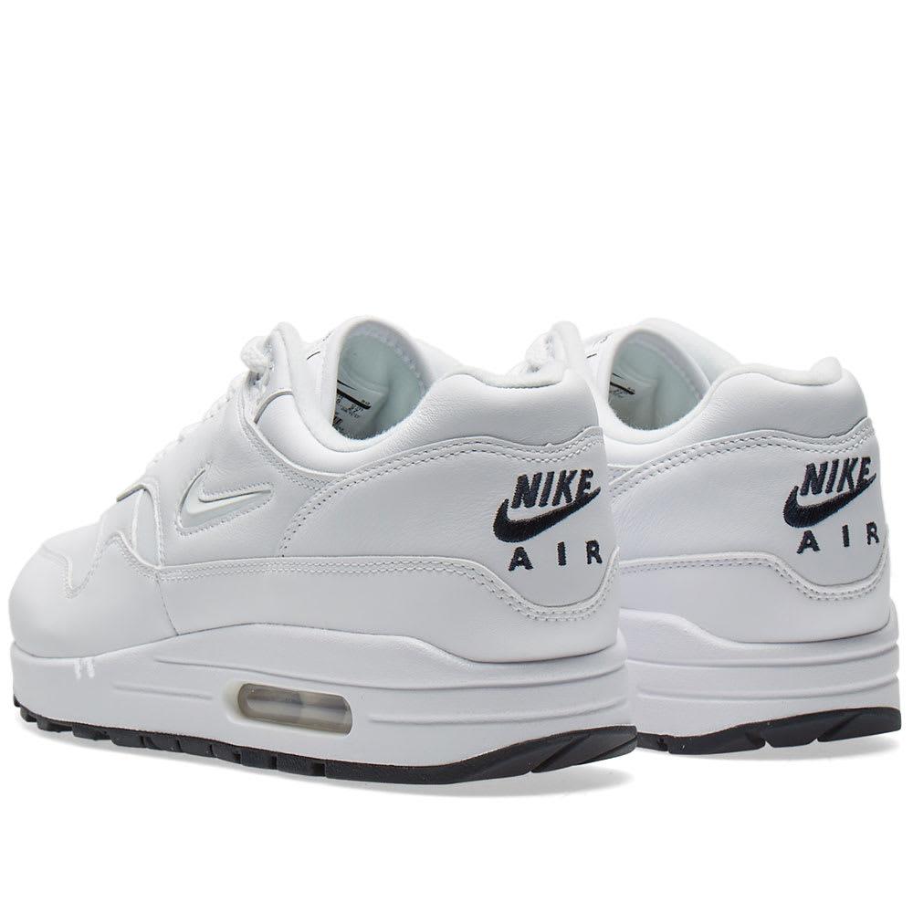 first rate 3fe18 79fe1 Nike Air Max 1 Premium SC White   Dark Obsidian   END.