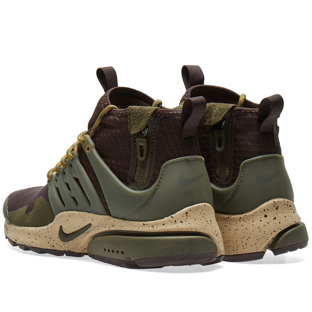 pretty nice d4bd1 b2a63 Nike Air Presto Mid Utility Velvet Brown   Cargo Khaki   END.