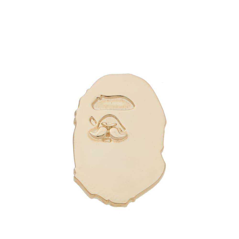 5bf7d980 Mr. Bathing Ape Ape Head Pin Gold | END.